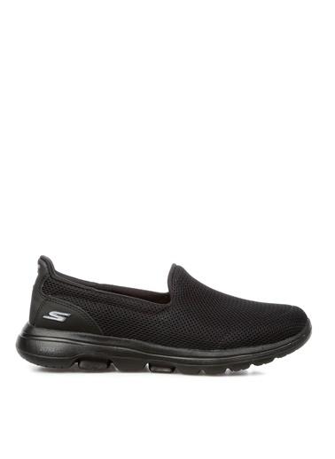 Skechers Skechers 15901 BBK Gowalk 5 Kadın Düz Ayakkabı Siyah